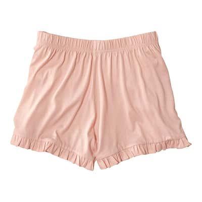 Damen-Shorts mit süßen Rüschen