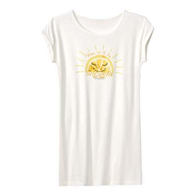 Damen-Nachthemd mit sonnigem Aufdruck