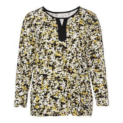 Damen-Shirt mit schickem Muster, große Größen