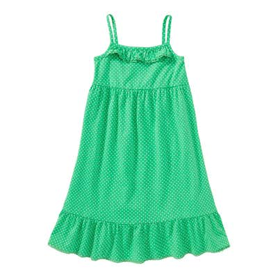 Mädchen-Kleid mit Rüsche am Saum