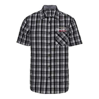 Herren-Seersucker-Hemd mit Karomuster