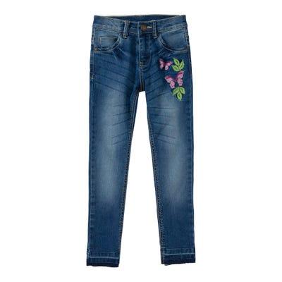 Mädchen-Jeans mit hübscher Stickerei