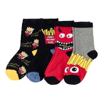 Jungen-Socken mit angesagtem Design, 4er Pack