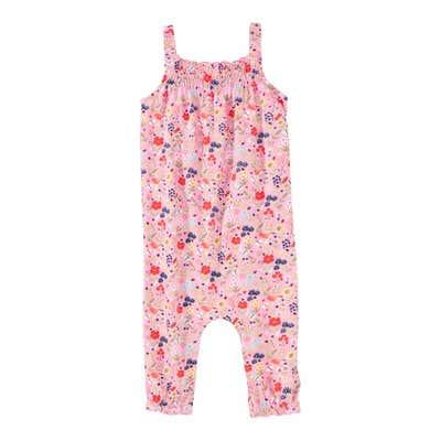 Baby-Mädchen-Jumpsuit mit Blümchen-Muster