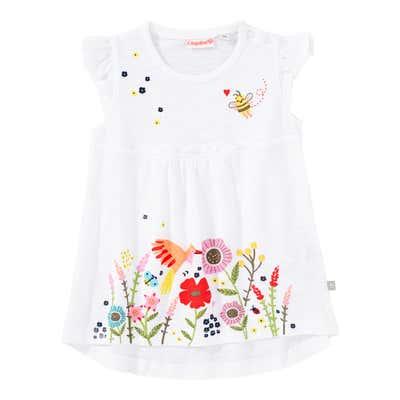 Baby-Mädchen-T-Shirt mit Blumen-Aufdruck
