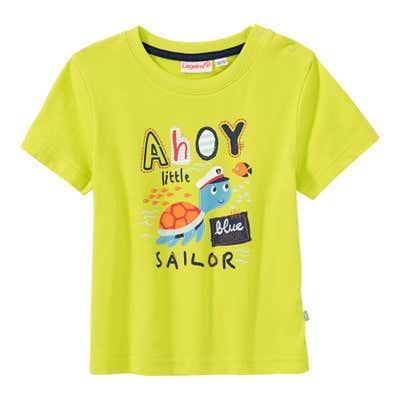 Baby-Jungen-T-Shirt mit Schildkröten-Frontaufdruck