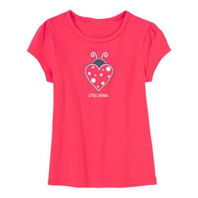 Mädchen-T-Shirt mit Marienkäfer-Herz