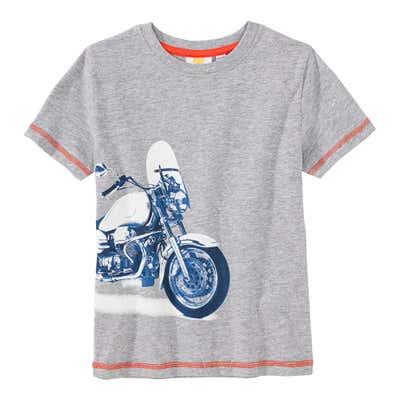 Jungen-T-Shirt mit Motorrad-Aufdruck