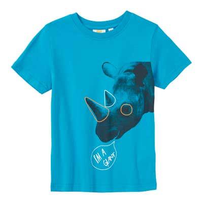 Jungen-T-Shirt mit Nashorn-Frontaufdruck