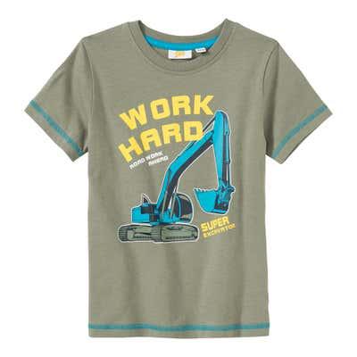 Jungen-T-Shirt mit Bagger-Frontaufdruck