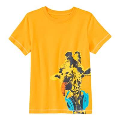 Jungen-T-Shirt mit coolem Giraffen-Motiv