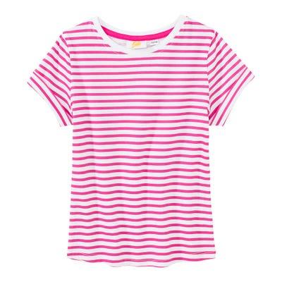 Mädchen-T-Shirt mit Streifenmuster