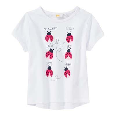 Mädchen-T-Shirt mit Marienkäfer-Frontaufdruck