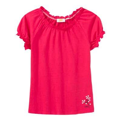 Mädchen-T-Shirt mit Carmen-Ausschnitt