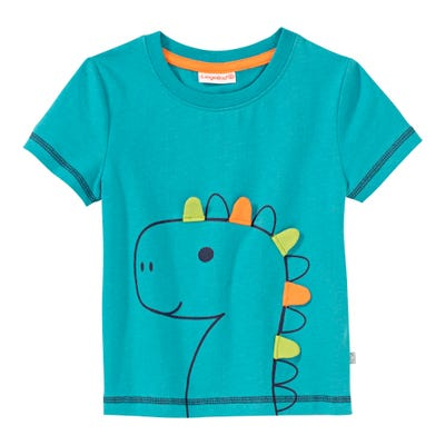 Baby-Jungen-T-Shirt mit Dino-Frontaufdruck