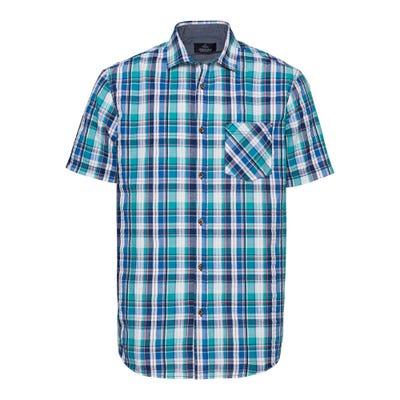 Herren-Seersucker-Hemd mit trendigem Karomuster
