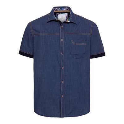 Herren-Hemd in Jeans-Optik