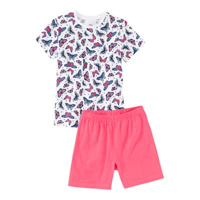 Mädchen-Shorty mit Schmetterlings-Muster, 2-teilig