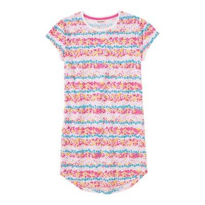 Mädchen-Nachthemd mit Streifen-Look