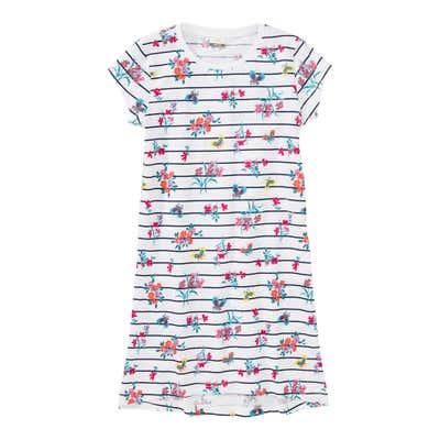 Mädchen-Nachthemd mit Streifenmuster