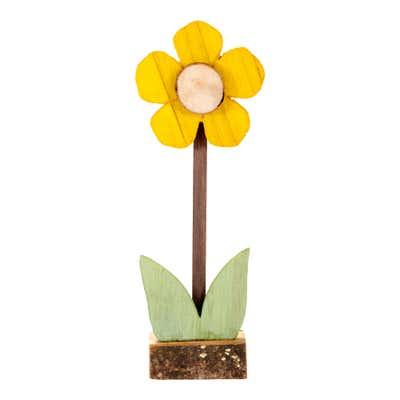 Deko-Blume aus Holz in verschiedenen Größen