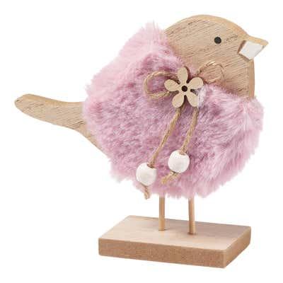 Deko-Vogel mit wunderschönem Federkleid, ca. 13x4x12cm
