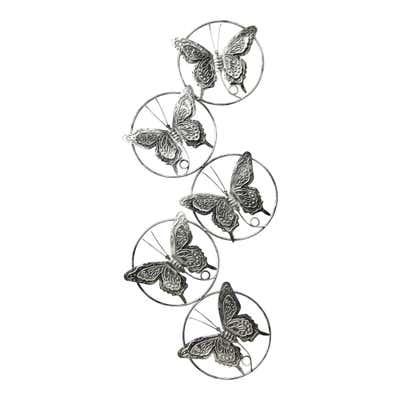 Wanddeko mit zauberhaften Schmetterlingen, ca. 70x29x3cm