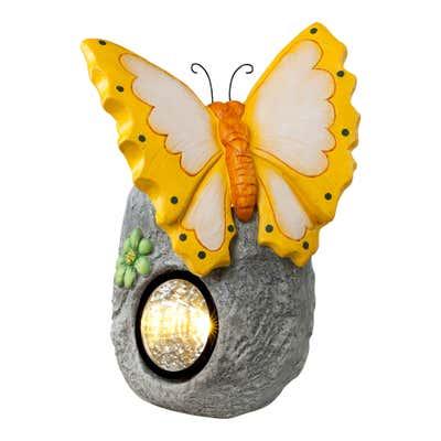 Solar-Licht mit schönem Schmetterling, ca. 23x20x32cm