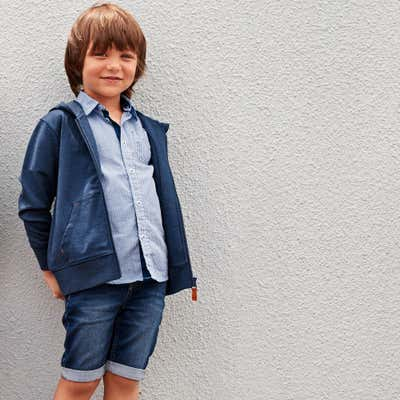Kinder-Jungen-Bermudas in angesagter Jeans-Optik