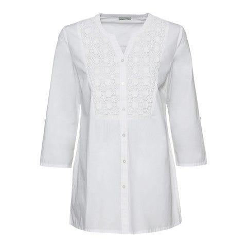 Damen-Bluse mit Spitzeneinsatz