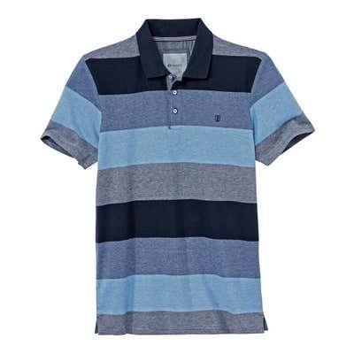 Herren-Poloshirt mit beliebtem Streifenmuster