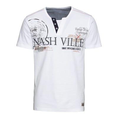 Herren-T-Shirt mit Zierknopfleiste