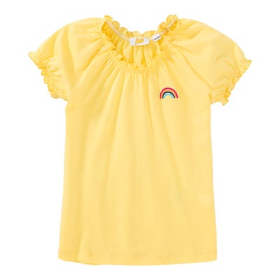 Mädchen-T-Shirt mit kleinem Regenbogen-Motiv