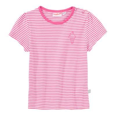 Baby-Mädchen-T-Shirt mit Ringelmuster