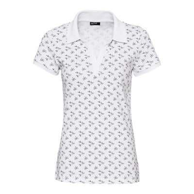 Damen-Poloshirt mit Libellen-Muster