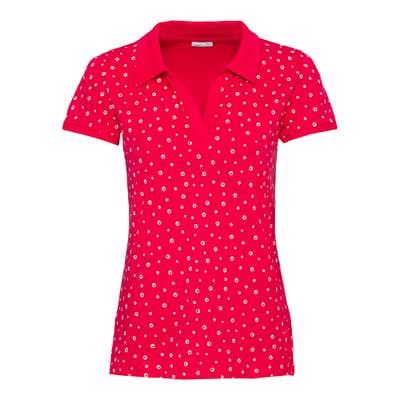 Damen-Poloshirt mit schickem Muster
