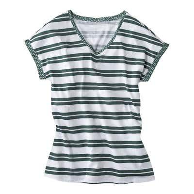 Damen-T-Shirt mit modernen Streifen