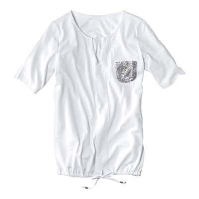 Damen-T-Shirt mit glitzernden Pailletten