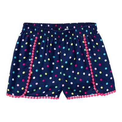 Mädchen-Viskose-Shorts mit Punkte-Muster