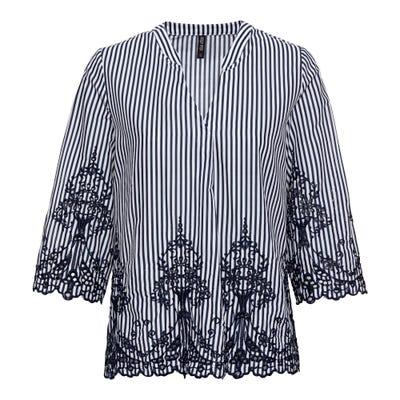 Damen-Bluse mit Lochstickerei