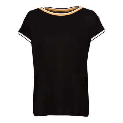 Damen-T-Shirt mit schicken Zierknöpfen