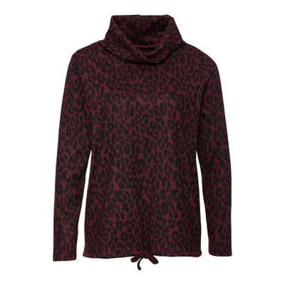 Damen-Sweatshirt mit Leo-Muster