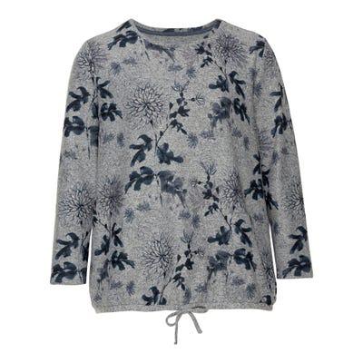 Damen-Sweatshirt mit Blumenmuster, große Größen