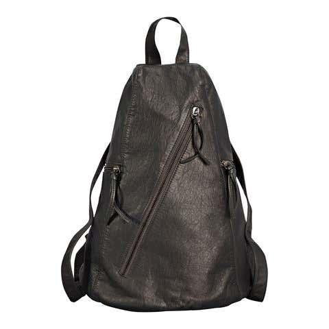 Damen-Rucksack in Leder-Optik, ca. 27x38x20cm