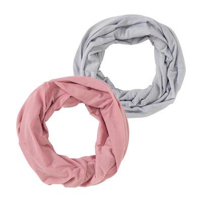 Damen-Loop-Schal, 2er Pack