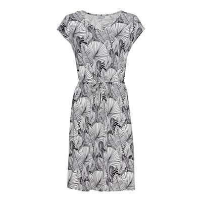 Damen-Kleid mit Palmblatt-Muster