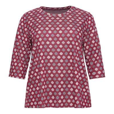 Damen-Sweatshirt mit Kreis-Muster, große Größen