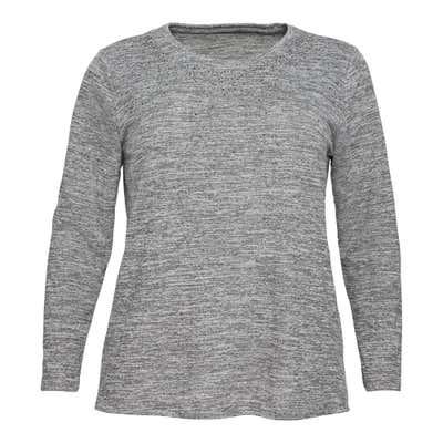 Damen-Sweatshirt in Melange-Optik, große Größen