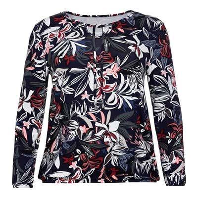 Damen-Shirt mit floralem Design, große Größen