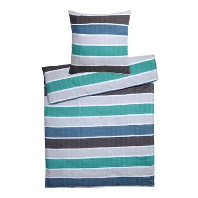 Seersucker-Bettwäsche mit modischen Streifen